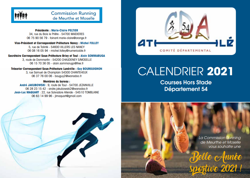 Calendrier Course Hors Stade 2022 Commission Running C.D.A. 54